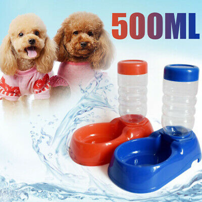 500ML Pet Cat Dog Automatic Water Drinking Feeder Bottle Bowl Dispenser Portable