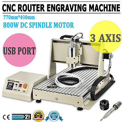 3 Axis 6040 1.5KW CNC ROUTER Engraver Drilling Milling Engraving Cutter Machine