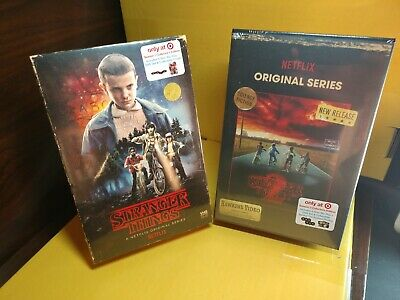 Stranger Things Seasons 1 & 2 (Blu-ray/DVD Target Exclusive VHS Packaging) NEW~