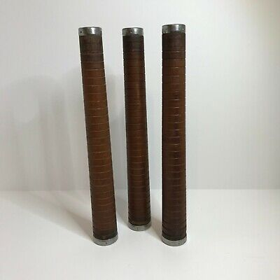 Vintage Wooden Bobbins Industrial Textile Mill Spindle Spools, Set of Three
