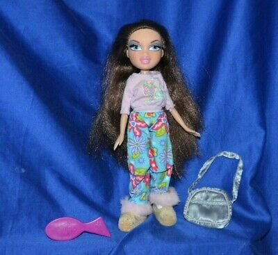 "Bratz Doll ""Phoebe"" Brown Hair Lavender Aqua Eyes Rooted Lashes"