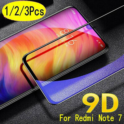 For Xiaomi Redmi Note 7 9D Curved Full Cover Tempered Glass Screen Protector UK