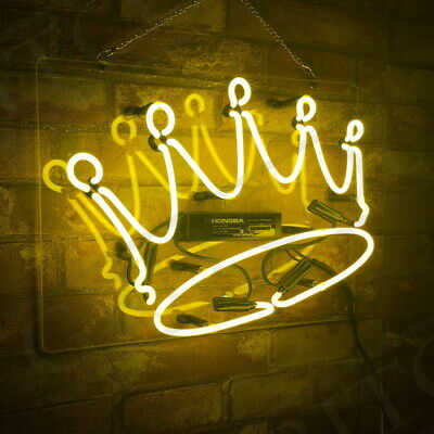 Crown Home Neon Sign Light Room Artwork Decor Home Nightclub Beer Wall Pub