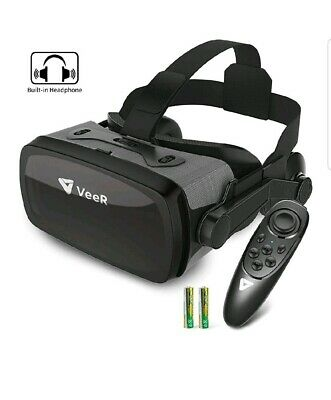 VeeR Falcon VR Headset, Eye Protected Virtual Reality Goggles (With Controller)