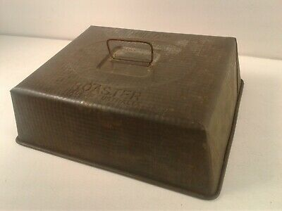 Vintage/retro Grey steel Willow Roaster baking tray lid/cover