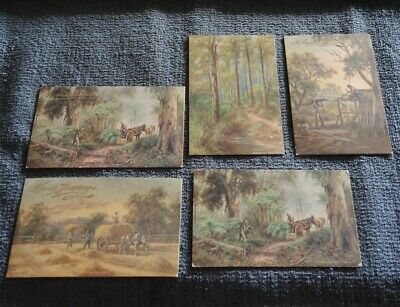 5 J A Turner Artist Signed Greetings Cards & Cards 1905-1911 #32