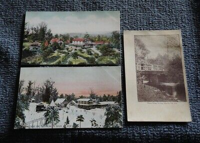 2 Cards The Hermitage On Black's Spur In Summer & Winter + Watts River Bridge #1