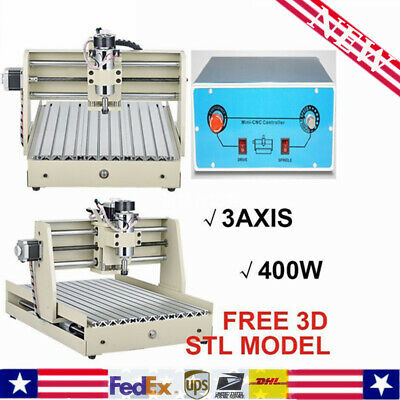 3-Axis 3040 Router Engraver Wood Engraving Milling Cuuter Machine Desktop 400W