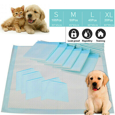 100pc Dog Puppy Cat  Pet Housebreaking Pad, Pee Training Pads, Underpads