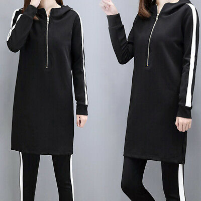 Women Tracksuit Two Piece Set Long Sleeve Hoodie Tops+Long Pants Casual Outfits