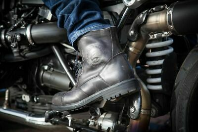 Falco Motorcycle Vintage Short Aviator Boots Waterproof 15% Off