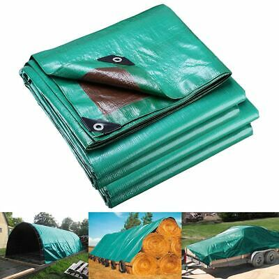 3.6x4.8m Reinforced Poly Tarps 137gsm PE Tarpaulin Camping UV Water Proof Cover
