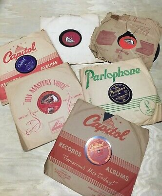 Gramophone Vintage Records assorted Capitol Parlophone Masters Voice 78 RPM