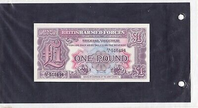 Bank Note British Armed Forces 0Ne Pound Aa 516494