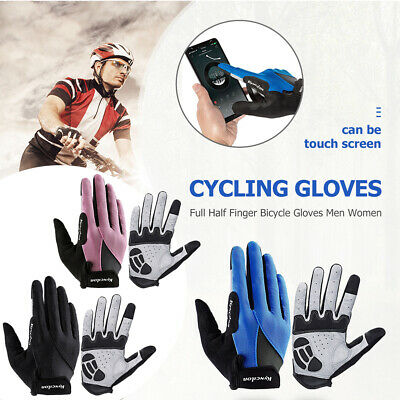 Outdoor Cycling Gloves Unisex Touch Screen Sports Riding MTB Bike Bicycl NIGH