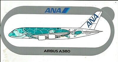 EXCLU !!! A380 ANA All Nippon Airways Turtle 2ND MODELE !!! STICKER AIRBUS