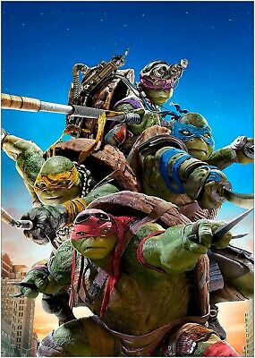 A0 A1 A2 A3 A4 Teenage Mutant Ninja Turtles Vintage Movie Poster Art Print