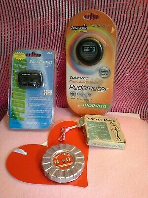 Lot of 3 Pedometer Sportline 340, Sportline Dual Functio & vintage Walk-A-Matic