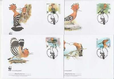 WWF 4 x FDC Macedonia 2008 - Vogels / Birds (297)