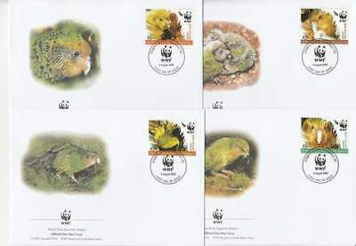 WWF 4 x FDC New Zealand 2005 - Vogels / Birds (315)