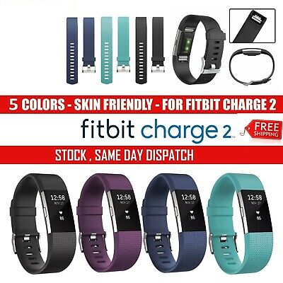 For Fitbit Charge 2 Silicone Replacement Wrist Watch Strap Bracelet Belt Band Ca