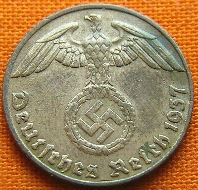 Wwii German 1937 - D 1 Reichspfennig 3Rd Reich Bronze Nazi Germany Coin Wc2203