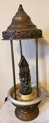 Vintage Grist Mill Rain Oil Table Lamp/ Works-30""