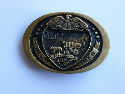 Oregon Ben Franklin 1978 H M Registered Collection  Solid Brass Belt Buckle