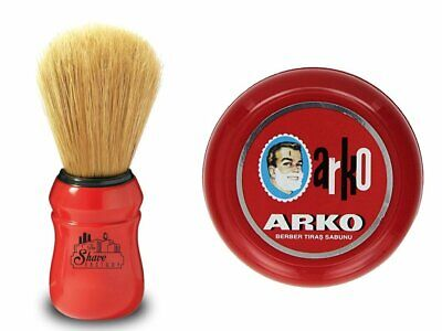 OMEGA Shaving BRUSH Boar Bristle | ARKO Shaving SOAP In BOWL | Shaving Set