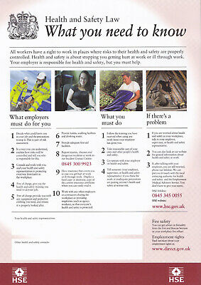 HSE Health & Safety UK Poster   A4, A3 & A3+ (PLUS) Sizes   Laminated   HD Print