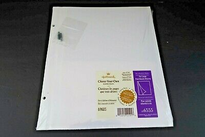 Hallmark AR6555 Photo Album Large Post Bound Refill Self Adhesive 8 Pages New