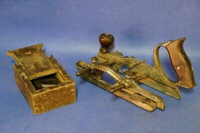 Rare Stanley No. 46 Combination Plane with Depth Stop and Cutters...