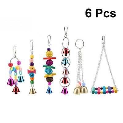 6 Pack Beaks Metal Rope Small Parrot Toy Budgie Cockatiel Cage Bird Toys New