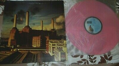"""PINK FLOYD animals FRENCH ORIG LP 12"""" 70's DISQUE COULEUR ROSE GILMOUR WATERS"""