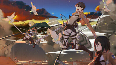 ATTACK ON TITAN POSTER LICENSE 24x34 Anime Manga Eren Yeager Mikasa Armin Arlert