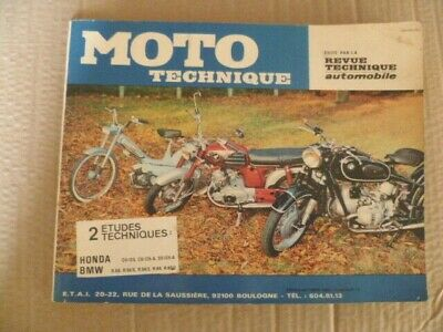 Revue MOTO technique BMW R50-50/S-50/2-60-60/2 - HONDA CD 125-CD 125.A-SS 125.A