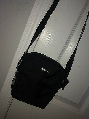 0297a095 AUTHENTIC SUPREME SHOULDER Bag - Black SS18 (StockX Purchased ...
