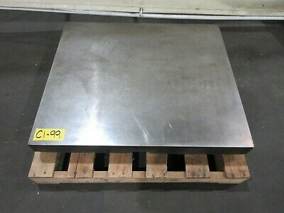"29-1/2"" x 34-1/2"" Cast Iron Fixture Layout Plate for Metalworking"