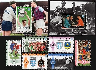 1995 BERNERA Islands FA Cup Football Stamp Set (GB Locals/Great Sporting Events)