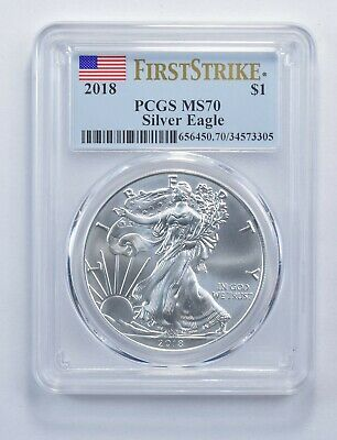 MS70 2018 American Silver Eagle - First Strike - Graded PCGS *411