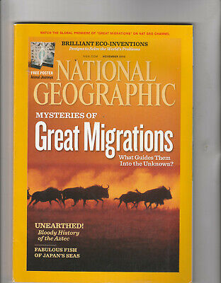 NATIONAL GEOGRAPHIC Magazine November 2010 - Mysteries Of Great Migrations