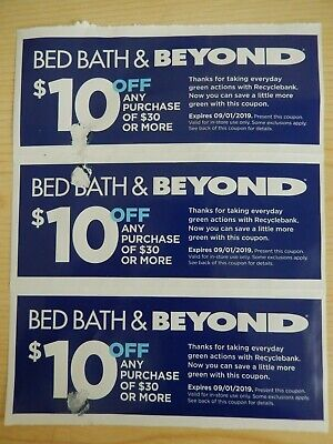 3 -  $10 off $30 Purchase - Bed Bath & Beyond Coupons