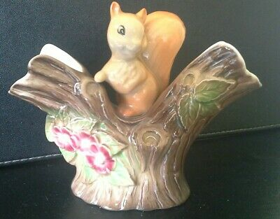 Hornsea Pottery Squirrel Double Posy Vase Number 21