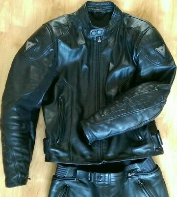 Dainese Leathers Two Piece Sport size 52/52 Black Leather Biker