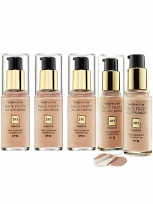 Max Factor Facefinity 3 in1 Flawless Foundation 30ml Choose Your Shade FREE Post