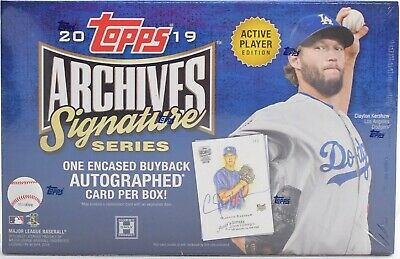 2019 Topps Archives Signature Series Active Player Baseball - Sealed Hobby Box