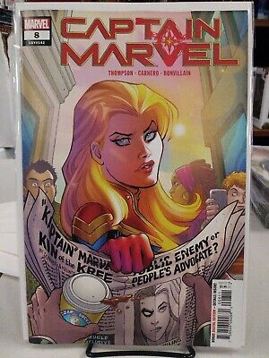 Captain Marvel #8 FIRST PRINT Carnage Logo Hidden Variant Marvel 2019 Cameo Star