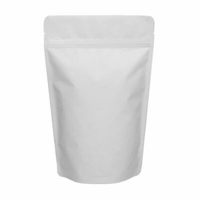 500 COUNT 16 oz Matte White Stand Up Pouch