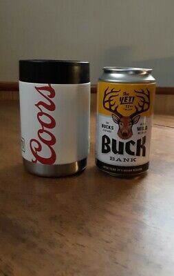 NEW Coors Light YETI Colster/Rambler/Can Coozie--LIMITED EDITION--with BUCK BANK