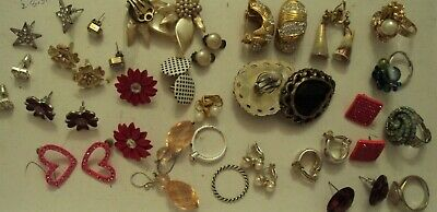 JobLot of earings costume jewellery different styles great lot 25-5-j5